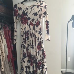 Free People Maxi Floral Dress Size XS